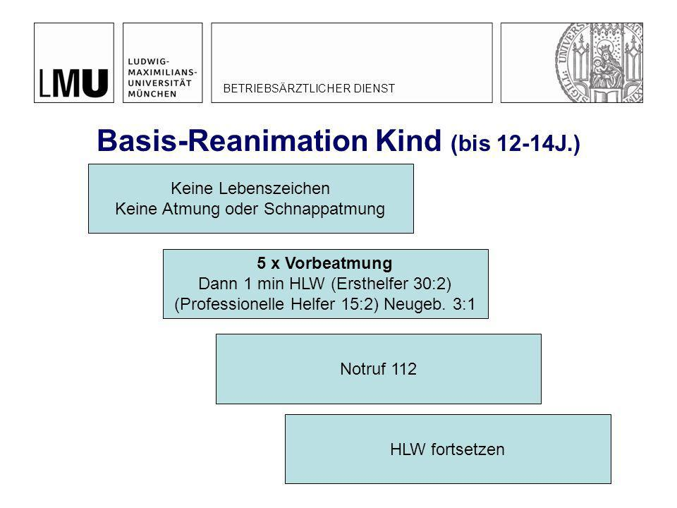 Basis-Reanimation Kind (bis 12-14J.)