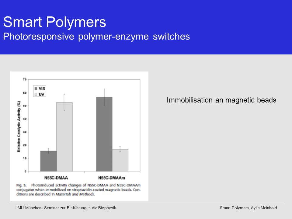Smart Polymers Photoresponsive polymer-enzyme switches