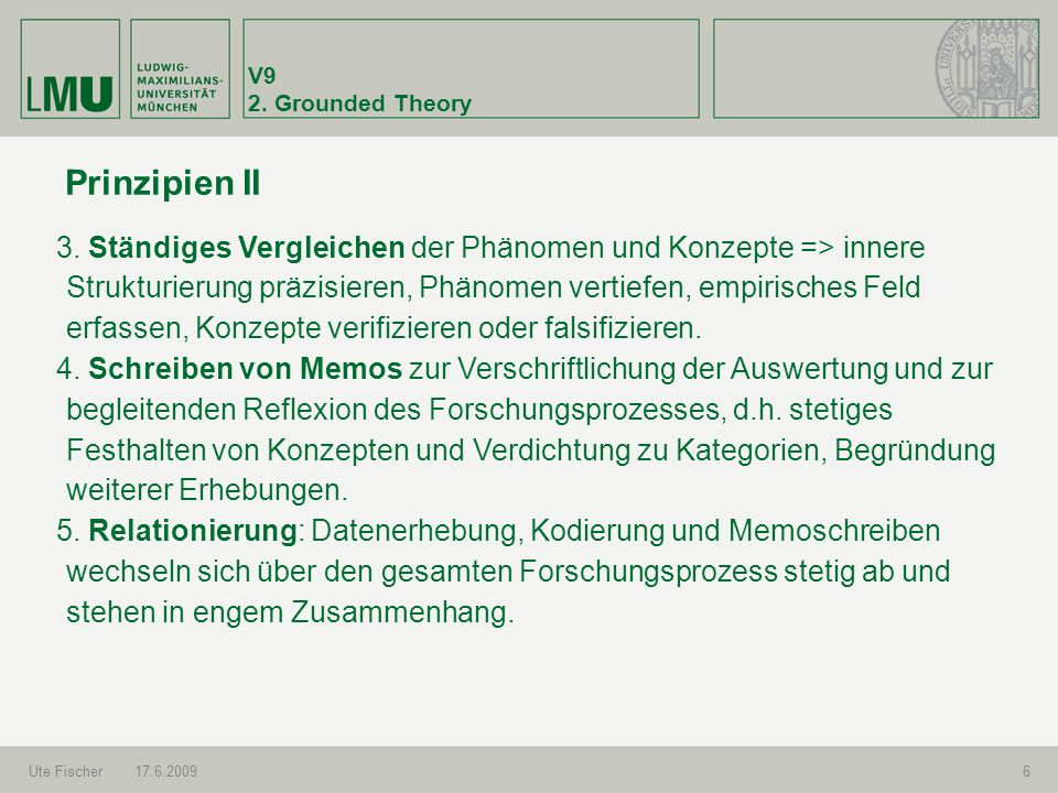 V9 2. Grounded Theory. Prinzipien II.