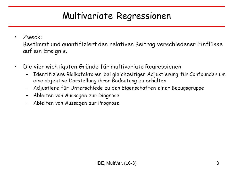 Multivariate Regressionen