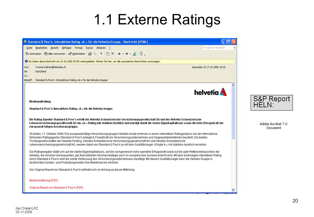 1.1 Externe Ratings S&P Report HELN: Karl Dietel/LPZ