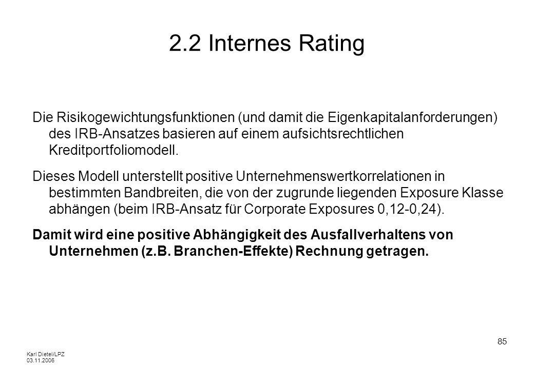 2.2 Internes Rating