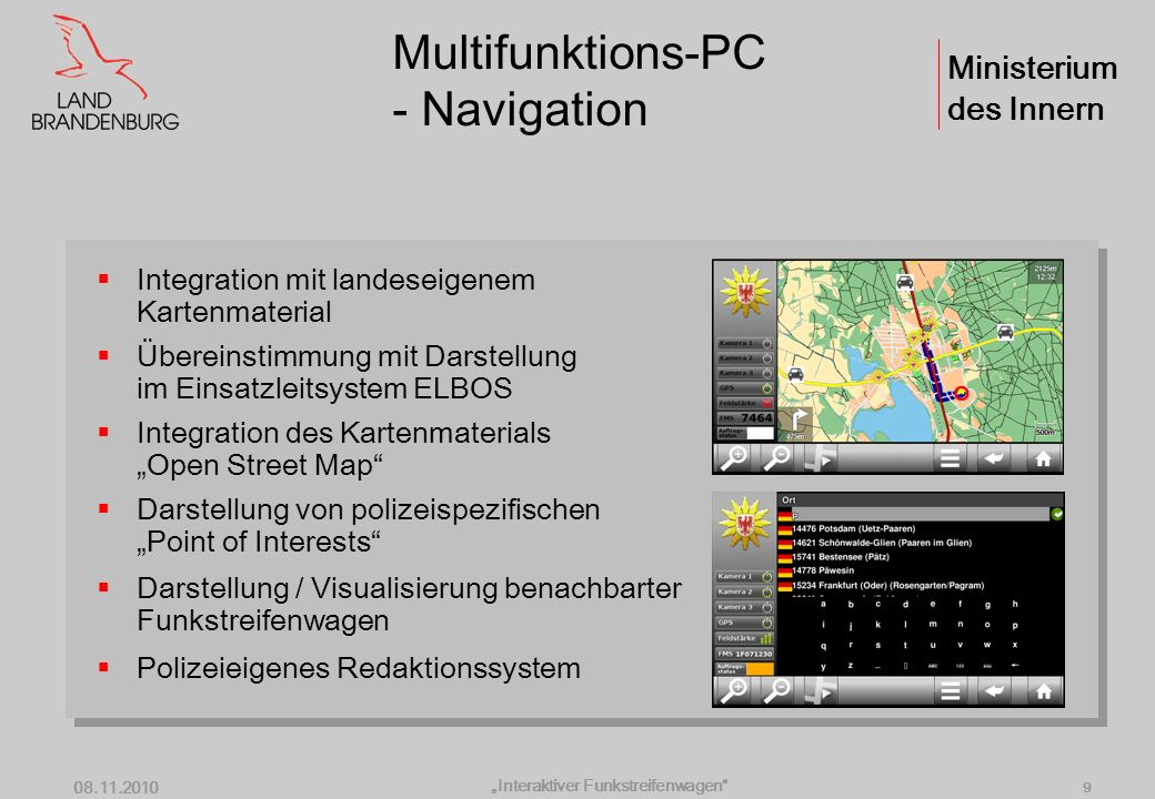 Multifunktions-PC - Navigation