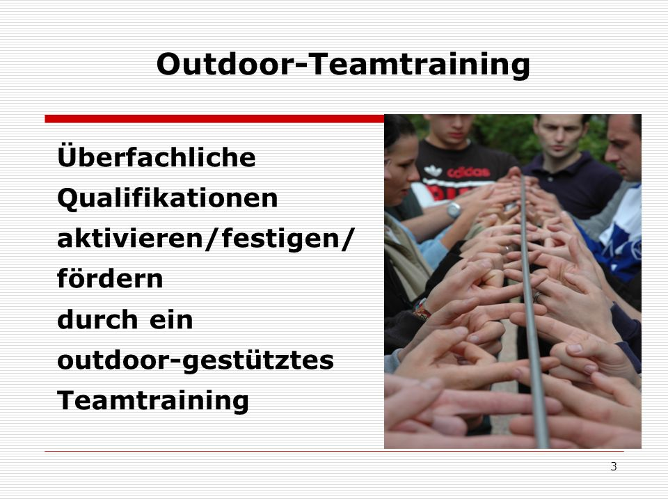 Outdoor-Teamtraining