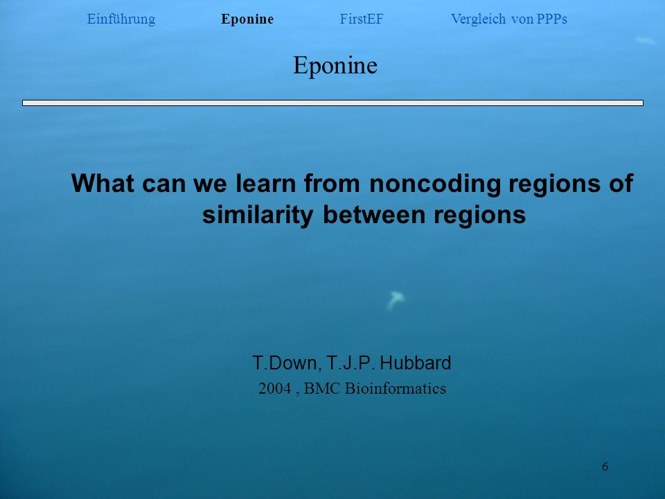 What can we learn from noncoding regions of similarity between regions