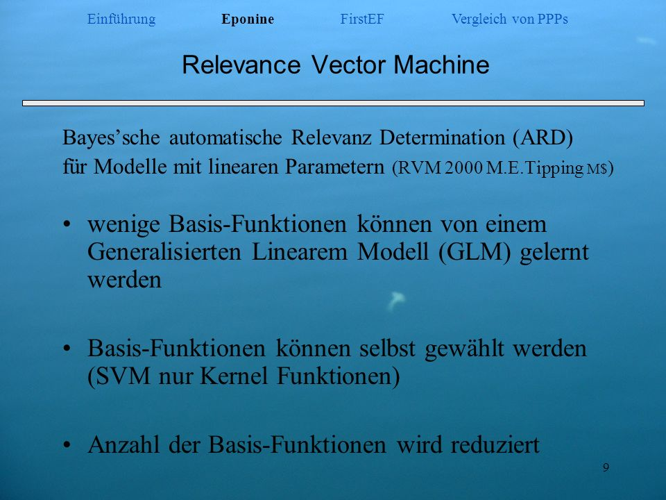 Relevance Vector Machine