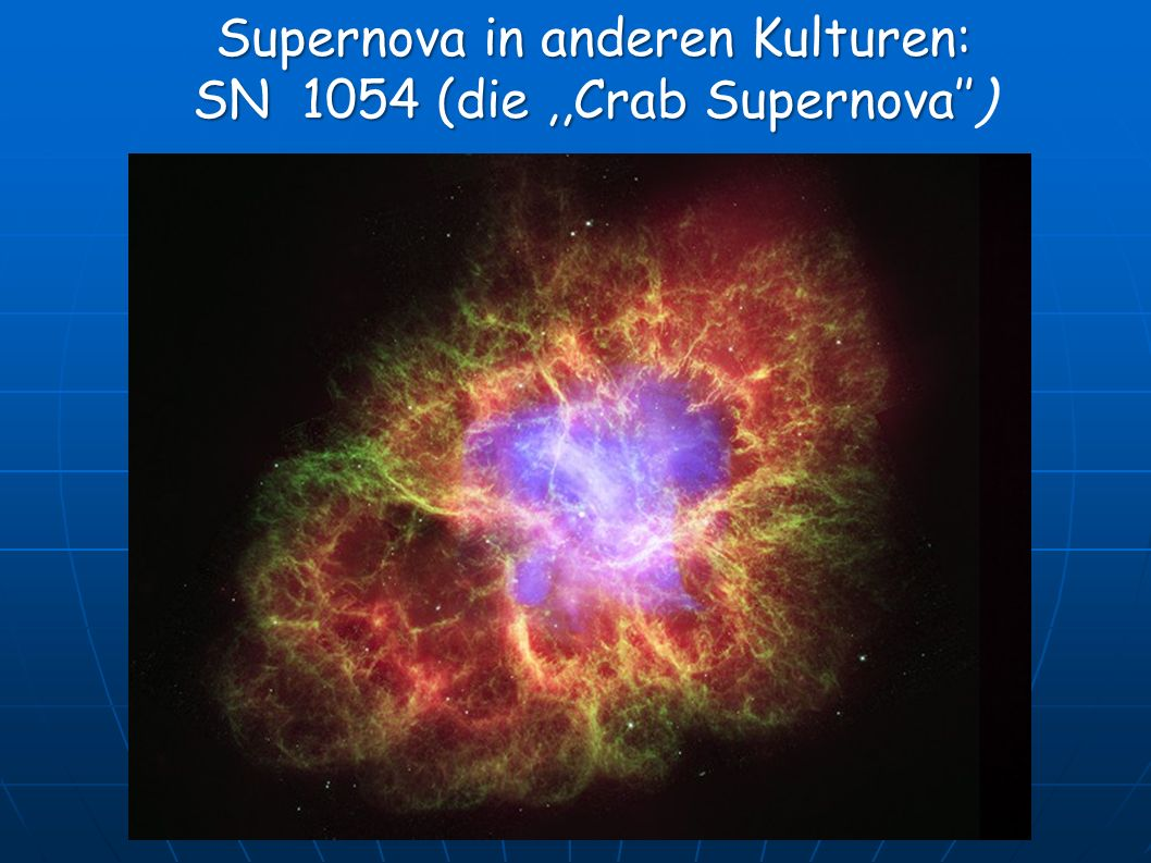 Supernova in anderen Kulturen: SN 1054 (die ,,Crab Supernova'')