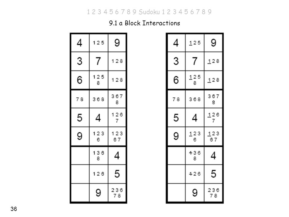 Sudoku a Block Interactions