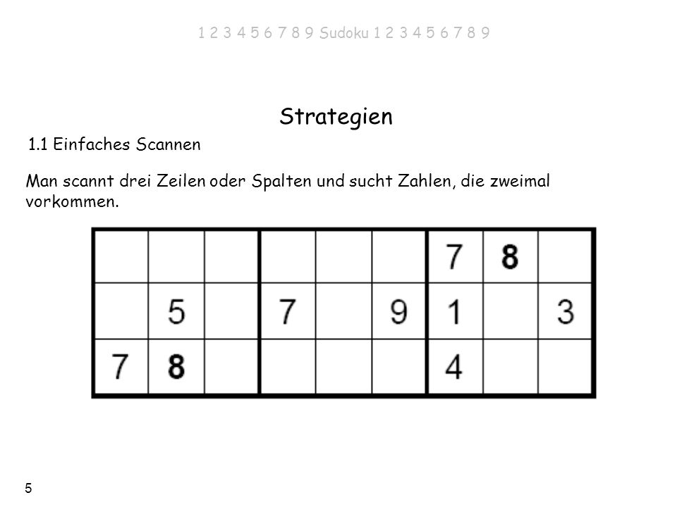 Strategien 1.1 Einfaches Scannen