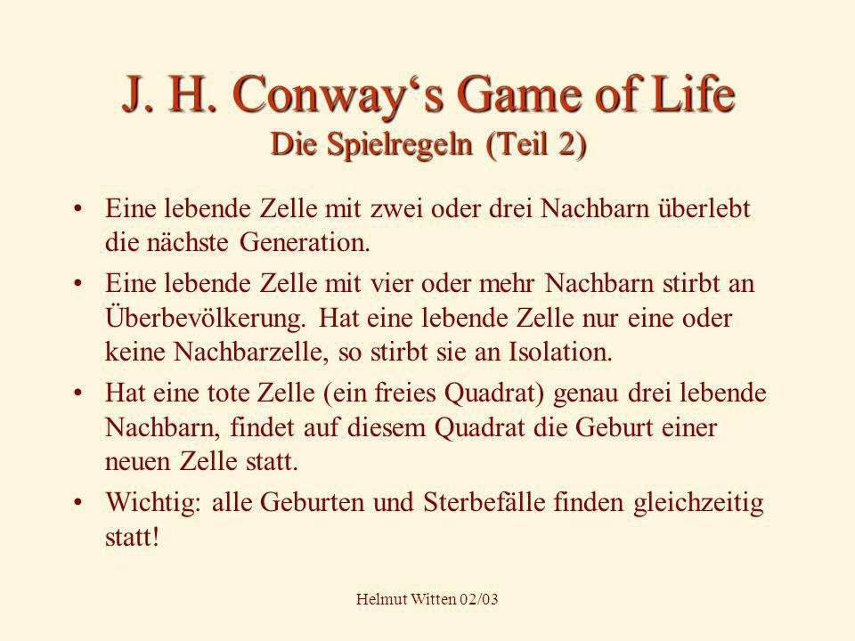 J H Conways Game Of Life Gol Spiel Des Lebens Ppt Video