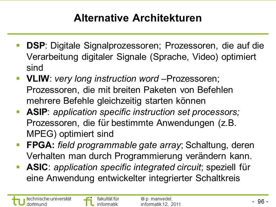 Alternative Architekturen