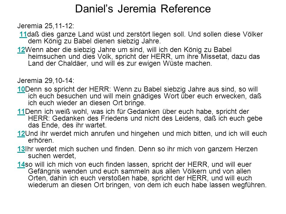 Daniel's Jeremia Reference