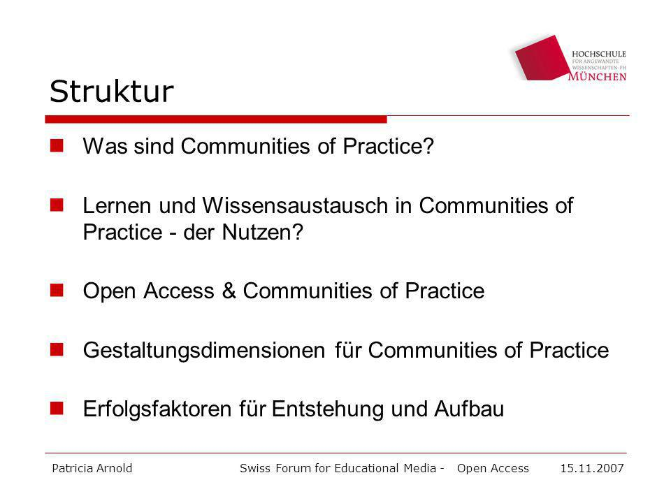 Struktur Was sind Communities of Practice