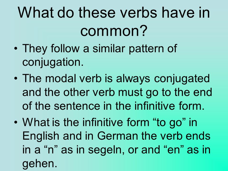 What do these verbs have in common