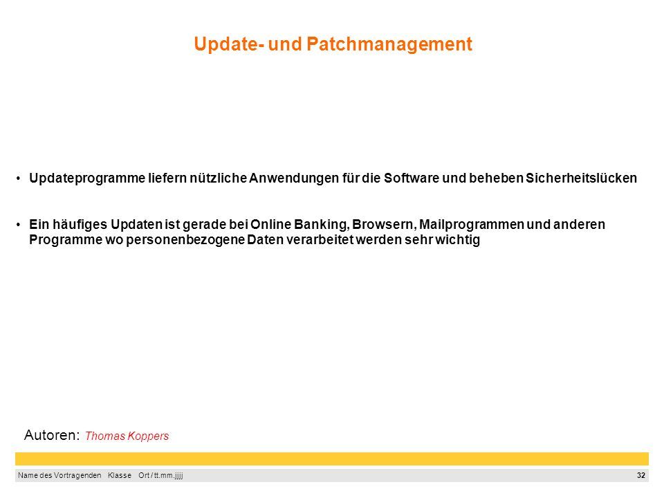 Update- und Patchmanagement