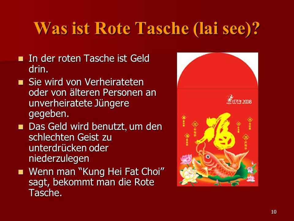 Was ist Rote Tasche (lai see)