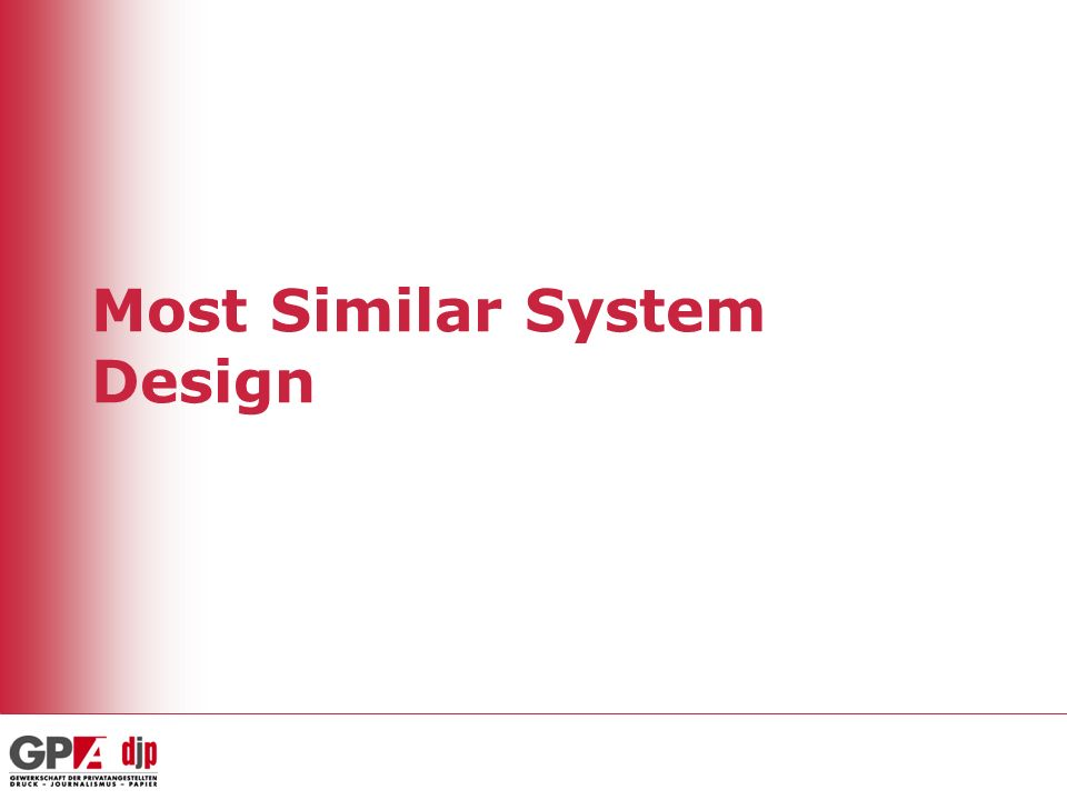 Most Similar System Design