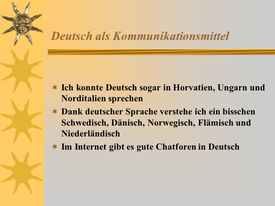 Deutsch als Kommunikationsmittel