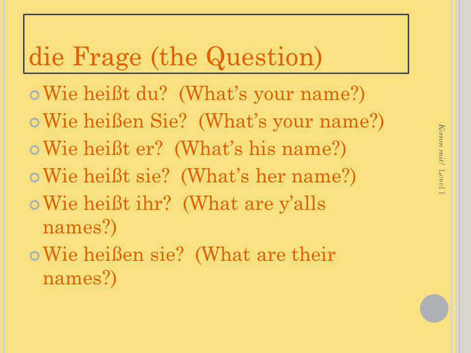 die Frage (the Question)