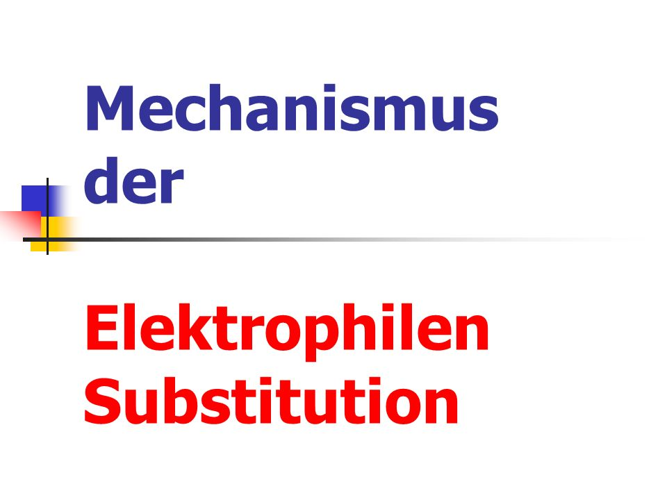 Mechanismus der Elektrophilen Substitution