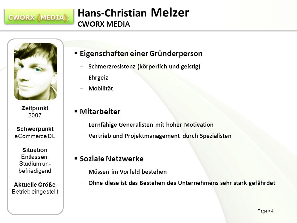 Hans-Christian Melzer CWORX MEDIA