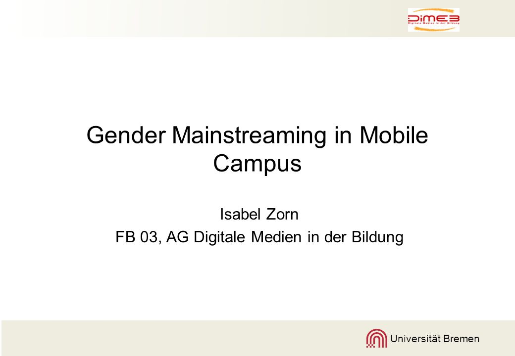 Gender Mainstreaming in Mobile Campus