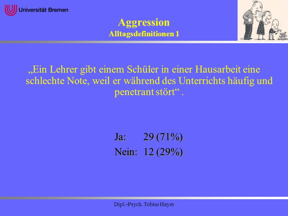 Aggression Alltagsdefinitionen 1