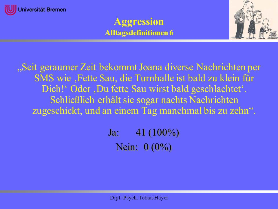 Aggression Alltagsdefinitionen 6