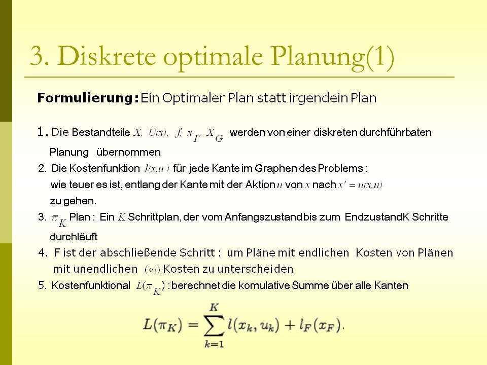 3. Diskrete optimale Planung(1)