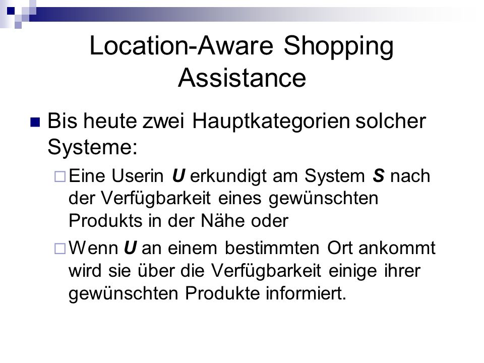 Location-Aware Shopping Assistance