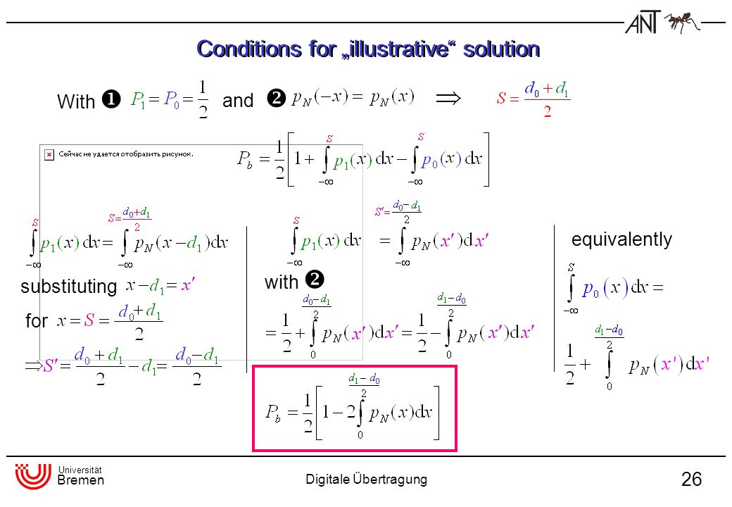 "Conditions for ""illustrative solution"