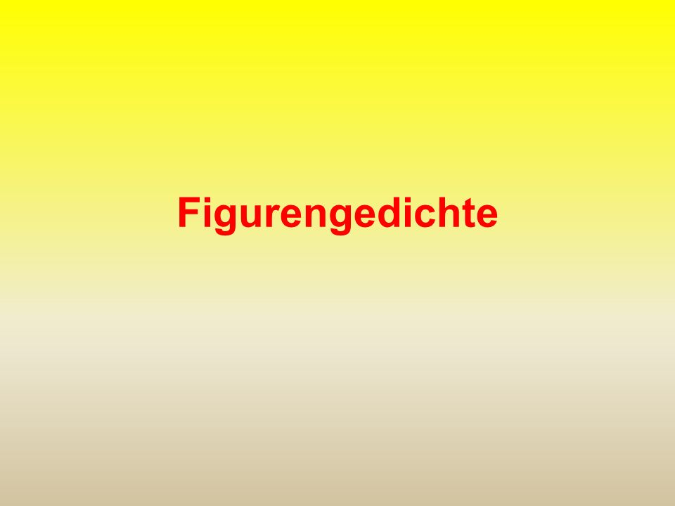 Figurengedichte