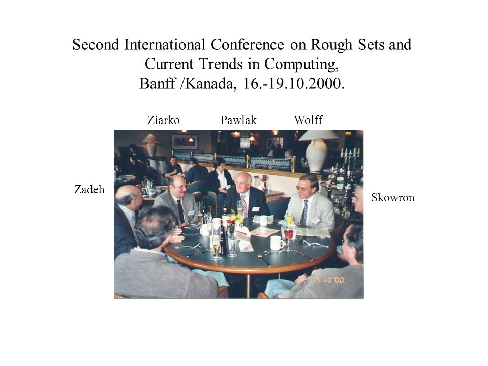 Second International Conference on Rough Sets and Current Trends in Computing, Banff /Kanada, 16.-19.10.2000.