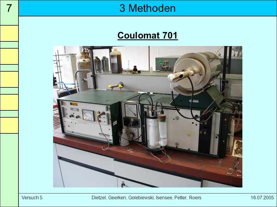 7 3 Methoden. Coulomat 701.