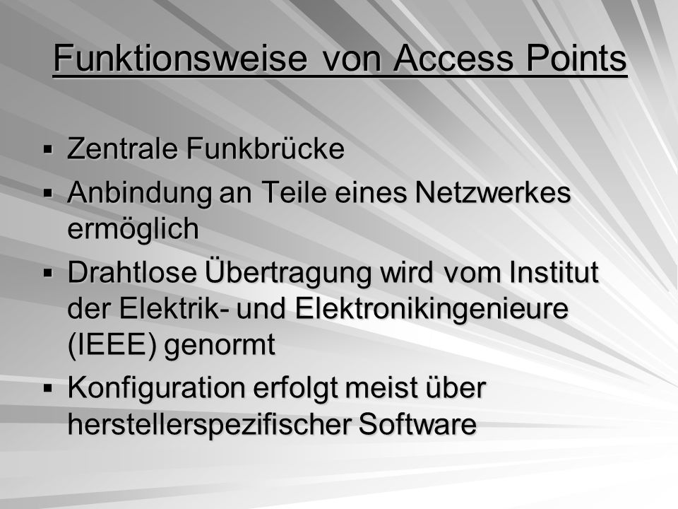 Funktionsweise von Access Points