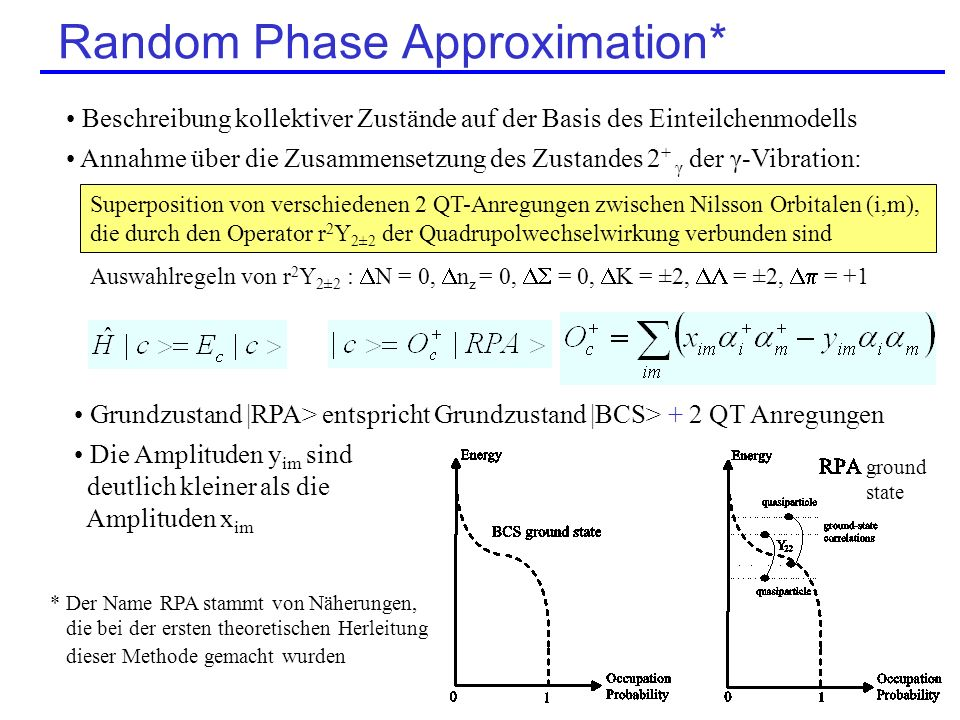 Random Phase Approximation*