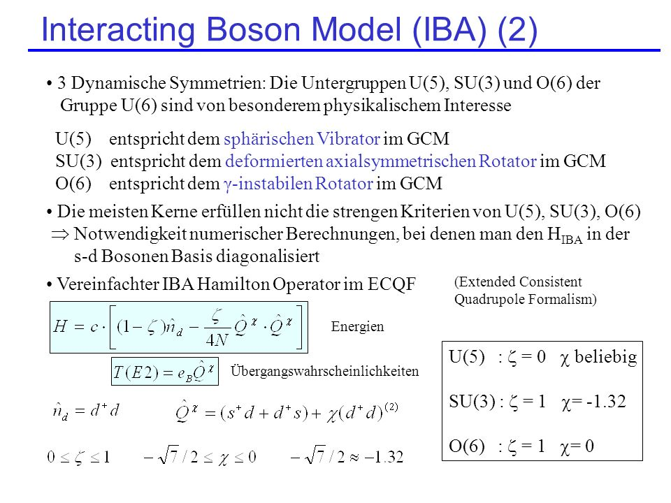 Interacting Boson Model (IBA) (2)