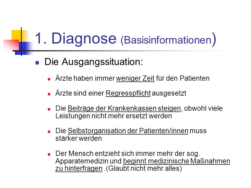 1. Diagnose (Basisinformationen)