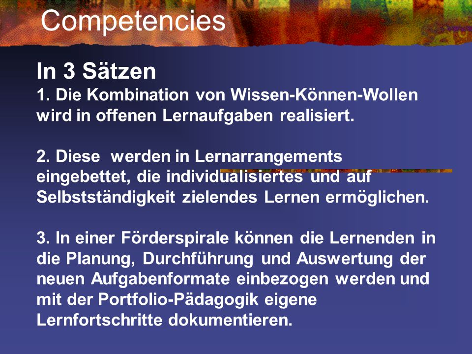 Competencies In 3 Sätzen