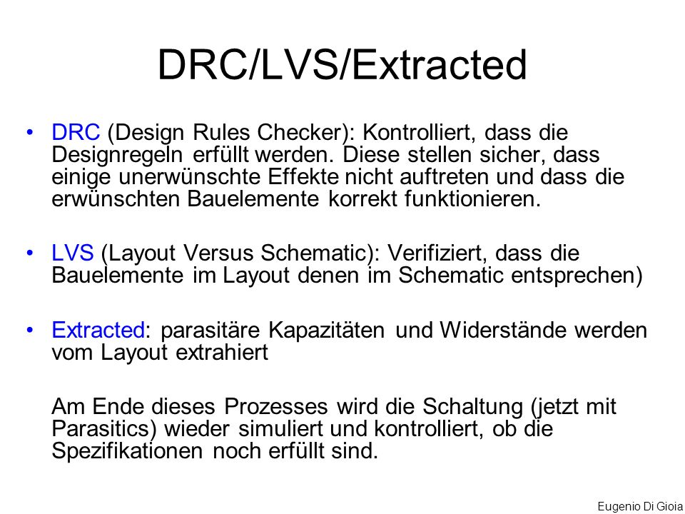 DRC/LVS/Extracted