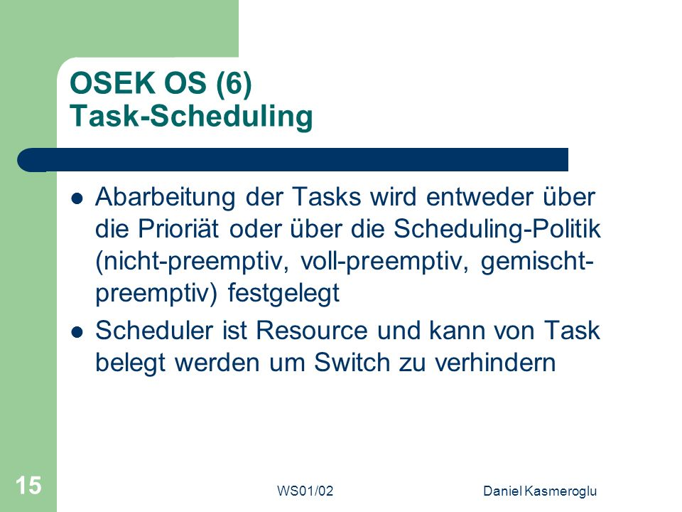OSEK OS (6) Task-Scheduling