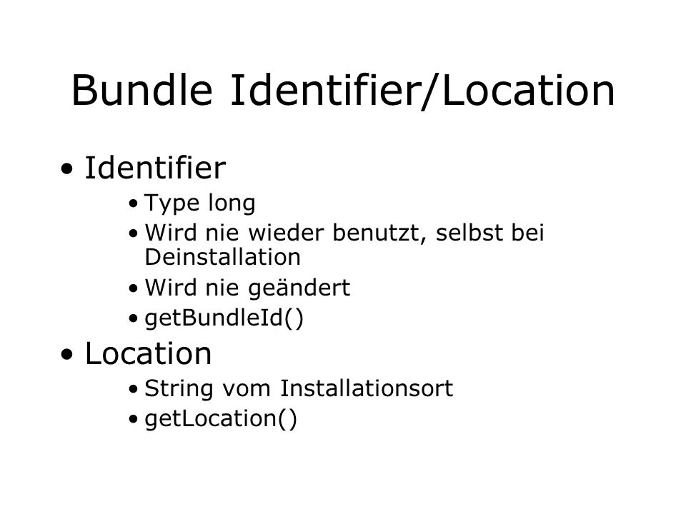 Bundle Identifier/Location