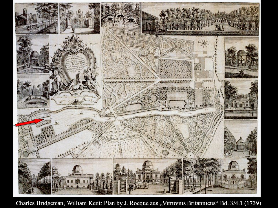 Charles Bridgeman, William Kent: Plan by J