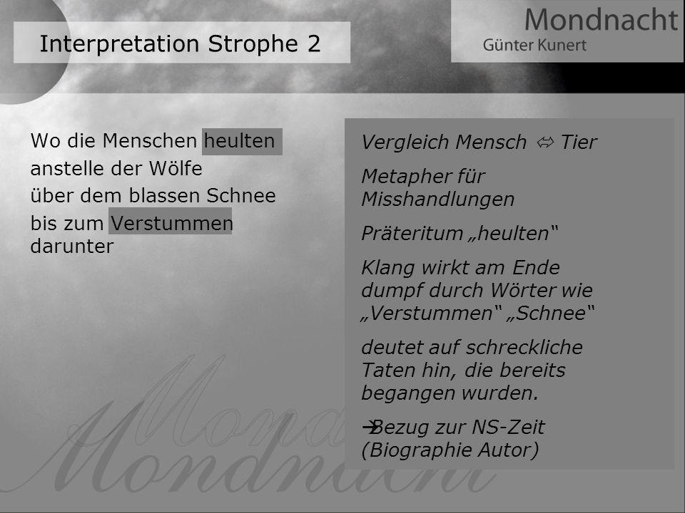Interpretation Strophe 2