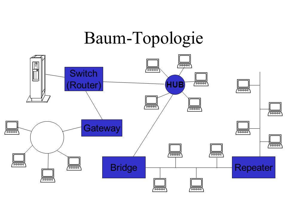                  Baum-Topologie Switch (Router)