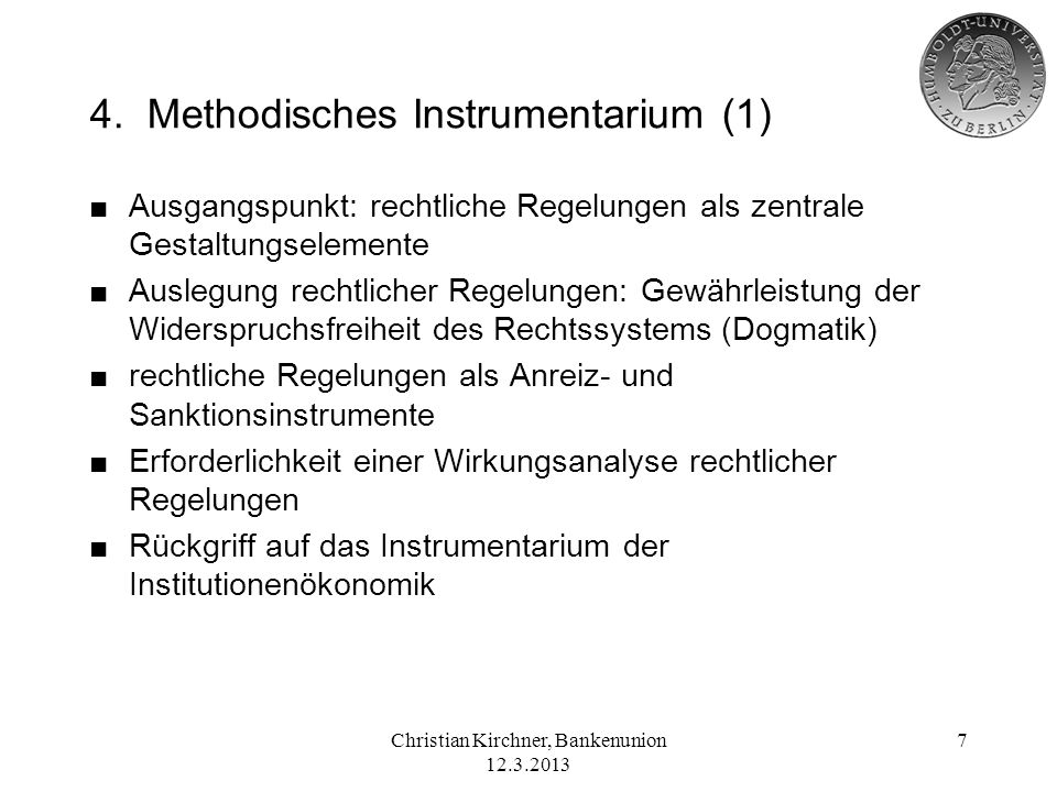 4. Methodisches Instrumentarium (1)