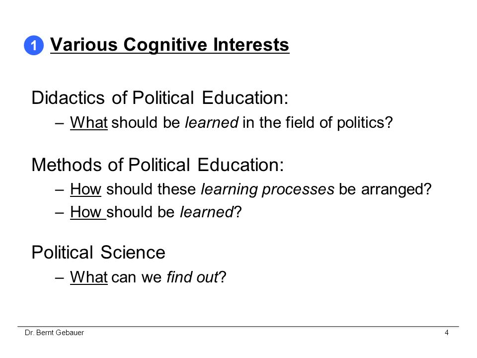 Various Cognitive Interests