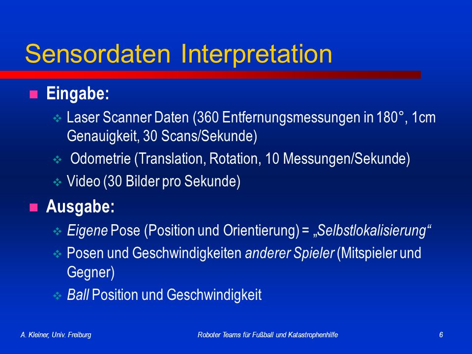 Sensordaten Interpretation