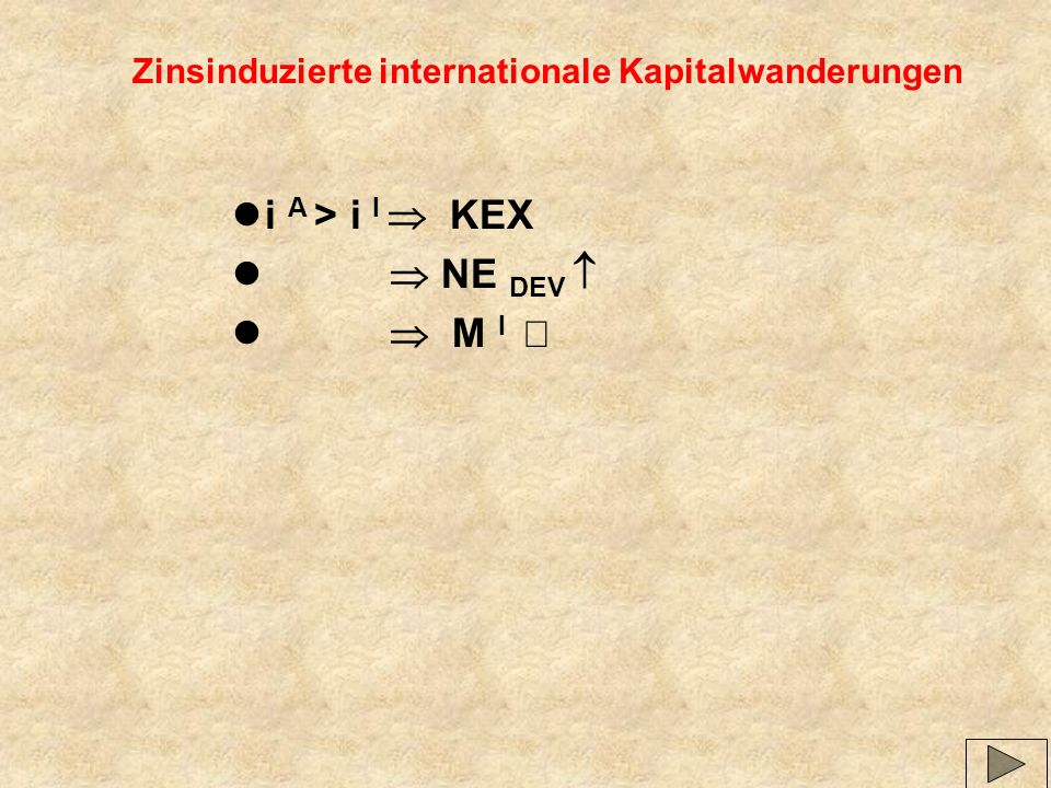 Zinsinduzierte internationale Kapitalwanderungen