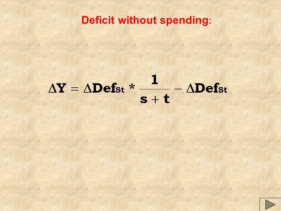 Deficit without spending: